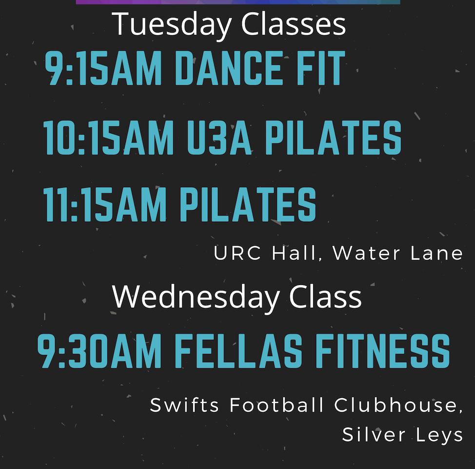 Bishop's Stortford exercise fitness pilates dance fit